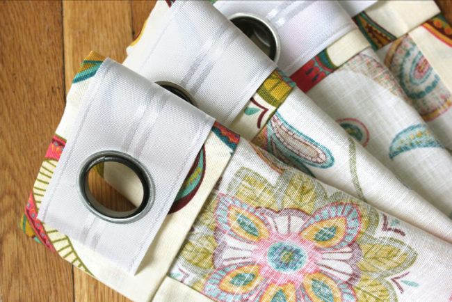 No-Sew Grommet Curtains
