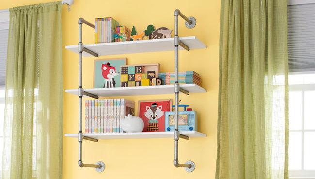 Pipe Frame Bookshelf