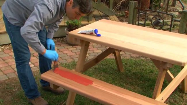 Sealing a Wooden Picnic Table