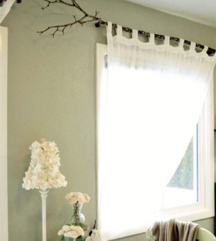 Use of Tree Branch as a Curtain Rod