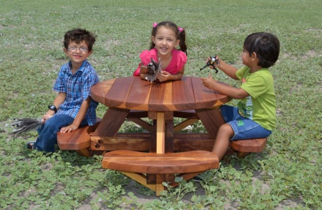 Wooden Picnic Tables for Toddlers