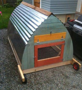 A Frame Pallet Chicken Coop