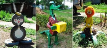 Animal Tire Planters