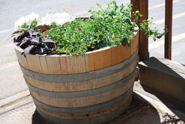 Extra Large Wine Barrel Planter