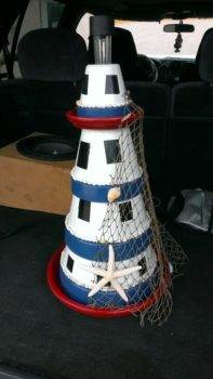 Flower pot lighthouse
