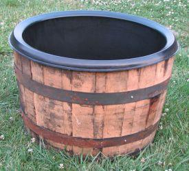 Lining a Wine Barrel Planter