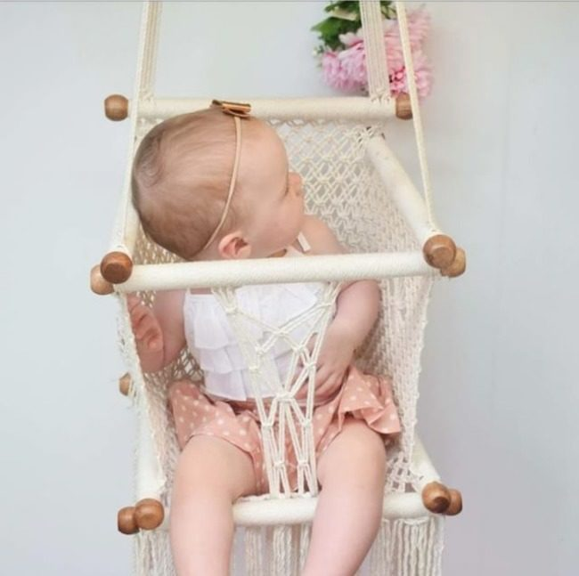 Macramé Baby Hammock