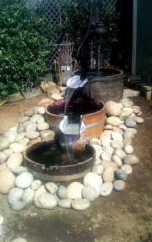 Making a Wine Barrel Planter