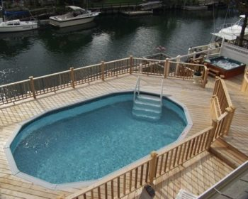 Multilevel Pool Deck For Kids