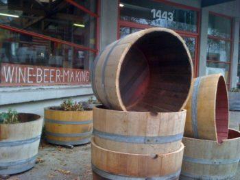 Red Wine Barrel Planters