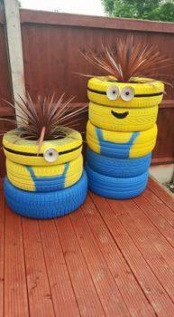 Tire Art Planters