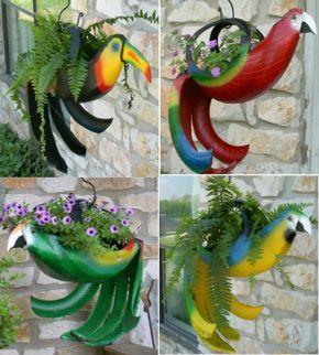Tire Bird Planters