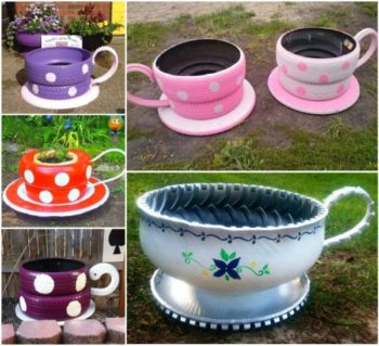 Tire Cup Planters