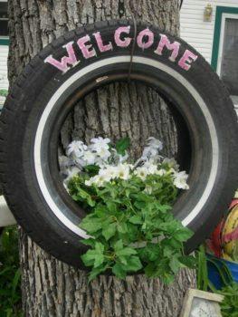 Tire Planters DIY