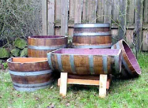 Wine Barrel Garden Bed