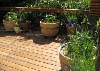 Wine Barrel Garden Planter