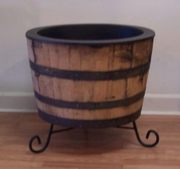 Wine Barrel Planter Stand