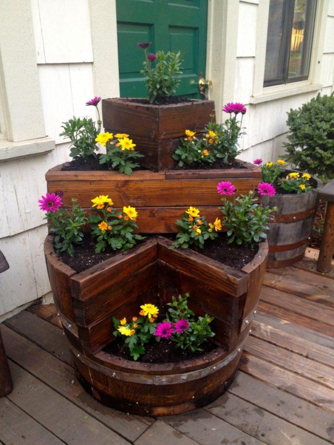 Wine Barrels as Planter Boxes