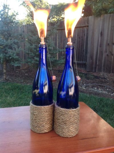 Wine Bottle Tiki Torches Diy