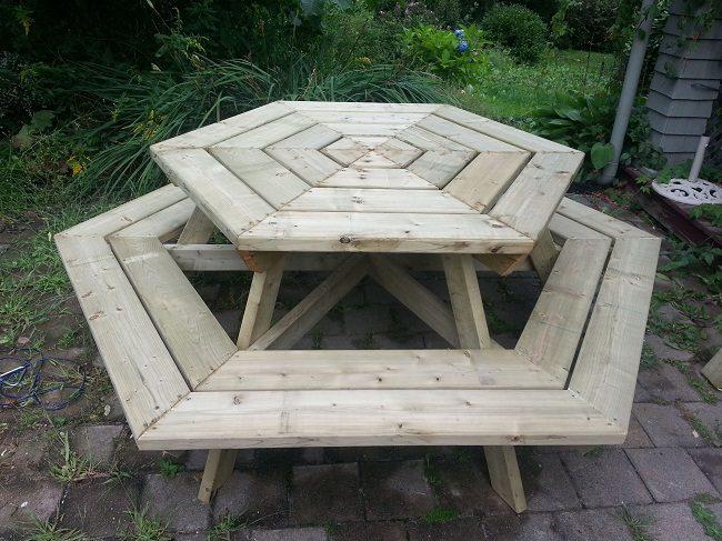 Wooden picnic tables plans
