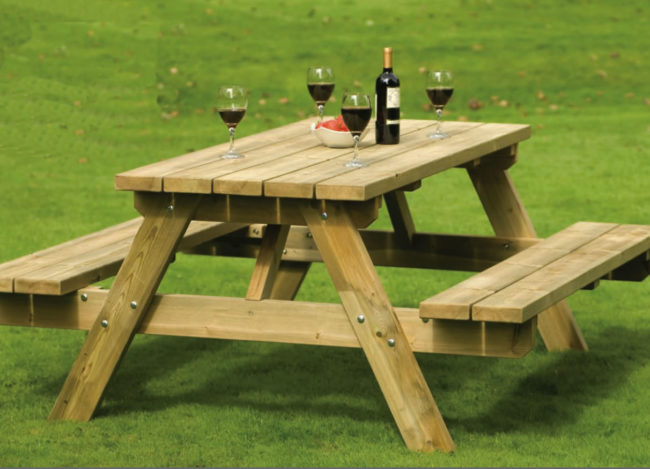Pleasing Stylish Wooden Picnic Tables For Vacation Inhabit Zone Download Free Architecture Designs Terstmadebymaigaardcom