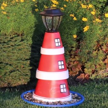 lighthouse flower pot