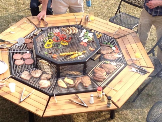outdoor picnic table grill