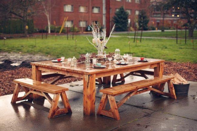outdoor picnic table ideas