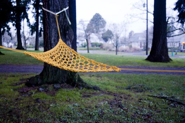 quick paracord hammock
