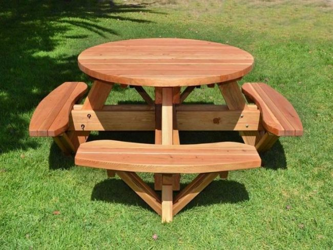 wooden picnic table ideas