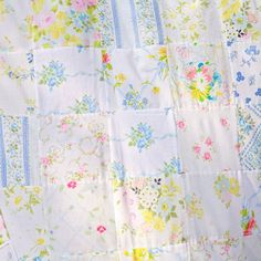 DIY Vintage Bedsheet Fabric Patchwork Curtain