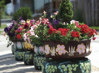 Decorative Tire Planters