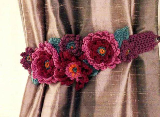 Easy Crochet Curtain Tieback