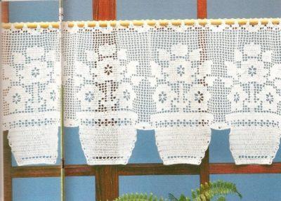 Filet Crochet Curtain Pattern