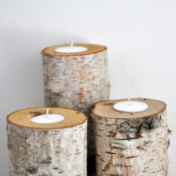How to Make Birch Log Candle Holders