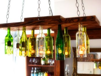 Unique Chandeliers Made Of Old Wine Bottles