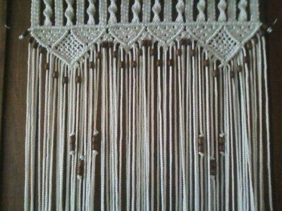 Macramé Beaded Curtain