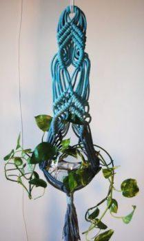 Macramé plant hanger DIY