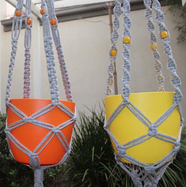 Macramé plant hanger pattern