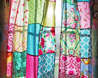 Patchwork Bohemian Curtains
