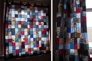 Patchwork Curtains DIY