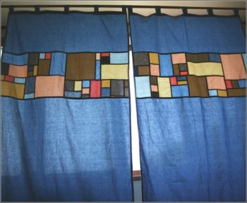 15+ DIY Patchwork Curtains