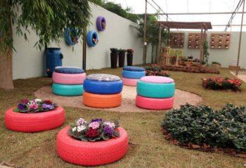Tire Garden Decor