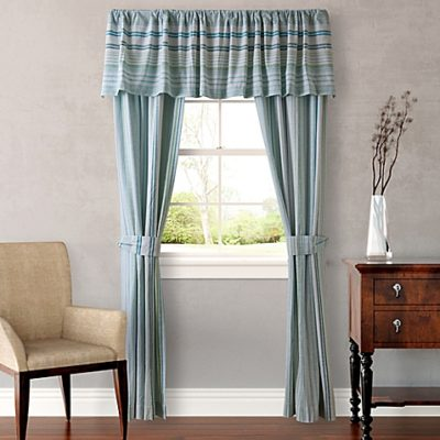 Window Curtain With Sea Glass