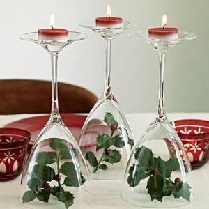 Wine Glass Votive Candles