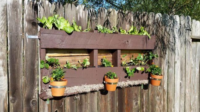 Wood Pallet Planter Ideas