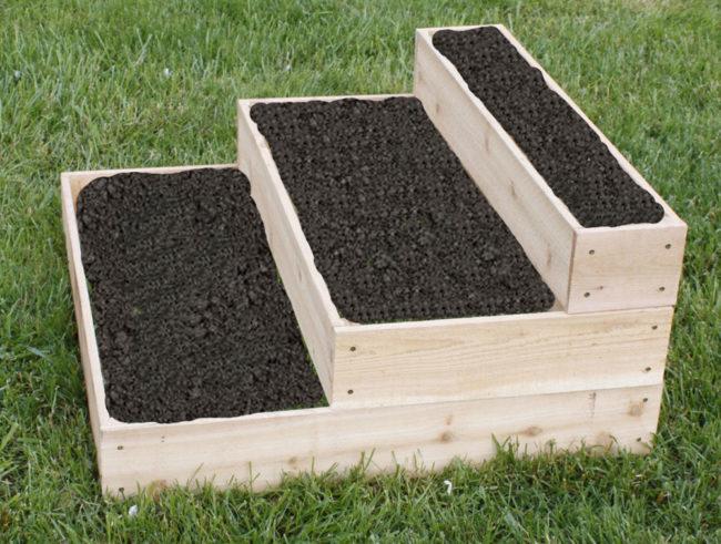 Raised Tiered Garden Beds