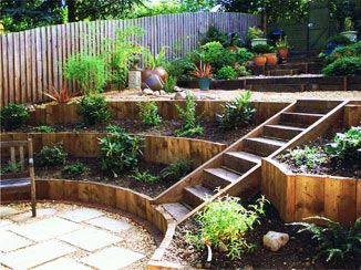 25+ Tiered Garden Walls | Inhabit Zone on Tiered Patio Ideas id=27801