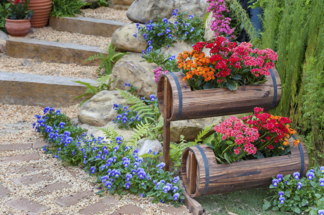 Tiered Planters Outdoor Use