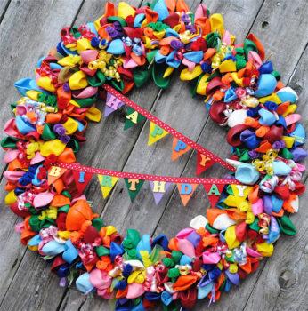 Birthday Wreath Ideas Balloons